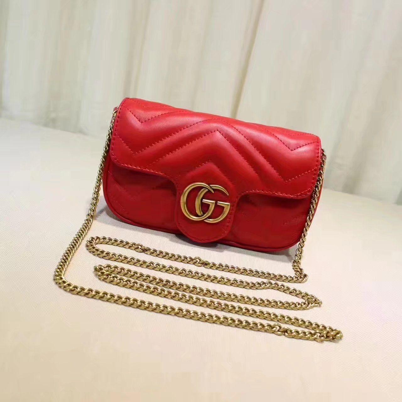 33962012bd13 Replica GUCCI GG Marmont matelasse leather super mini bag red ID:31678