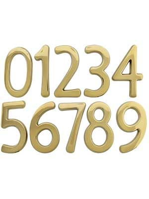 Solid Brass House Numbers 4 Height House Numbers House Address Numbers House Address