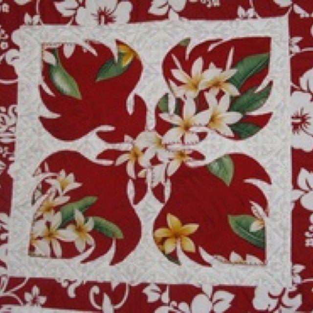 Red Hawaiian Quilt