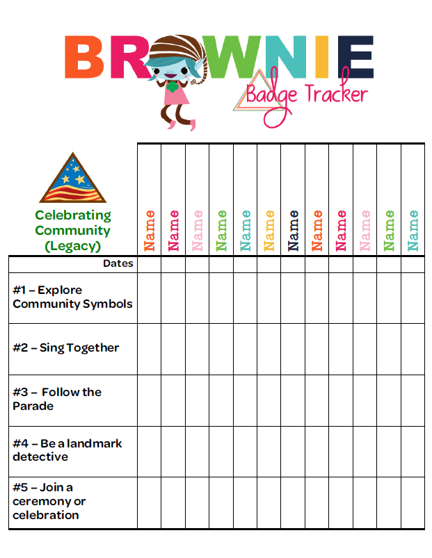 As Promised Finally A Brownie Badge Tracker  Iamgirlscouts
