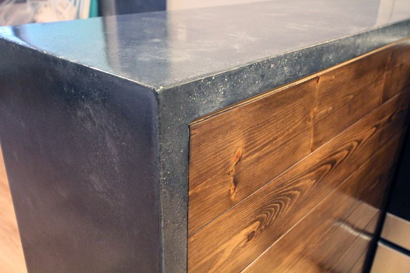 Concrete counters..Butlers pantry perhaps?