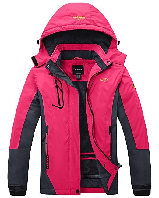 7e1dd0903 Amazon.com: Wantdo Women's Mountain Waterproof Ski Jacket Windproof ...