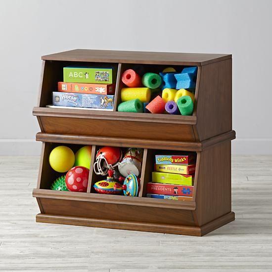 Walnut Storagepalooza The Land Of Nod Toy Storage Kids Toy