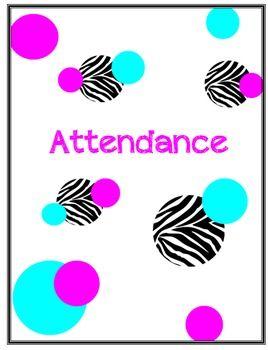 Attendance Binder Cover