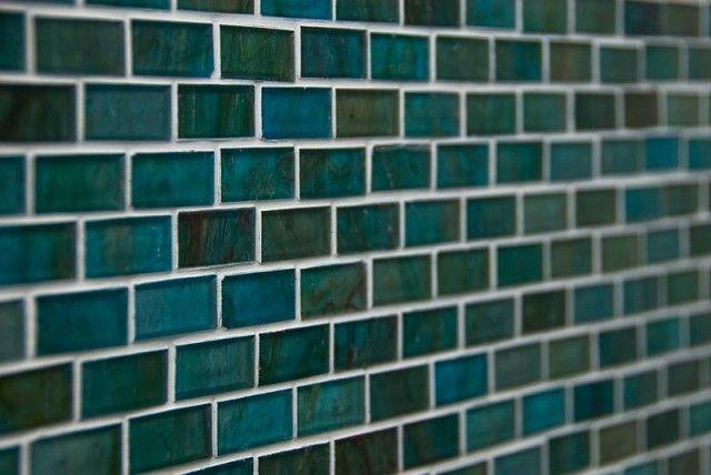 A Soothing Teal Tile Backsplash Fitting For The Kitchen Or Bathroom Grandin Road Color Crush On Laguna Teal Tile Green Mosaic Tiles Tiles