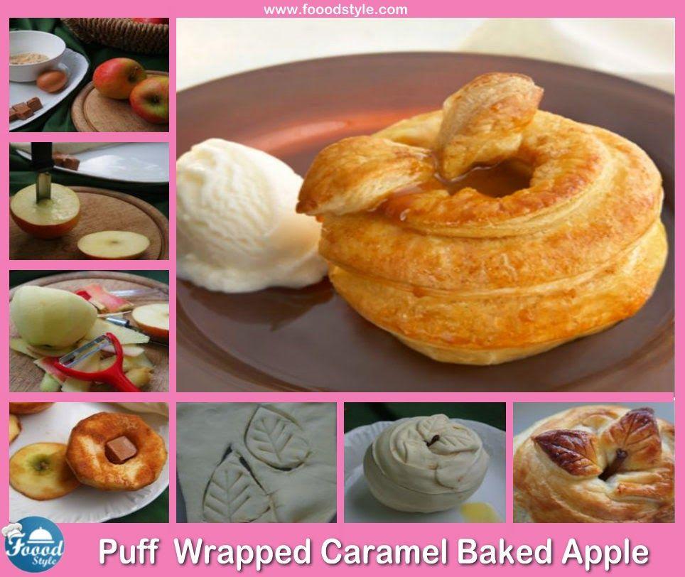 Puff Pastry Caramel Baked Apple idea ! Foood Style