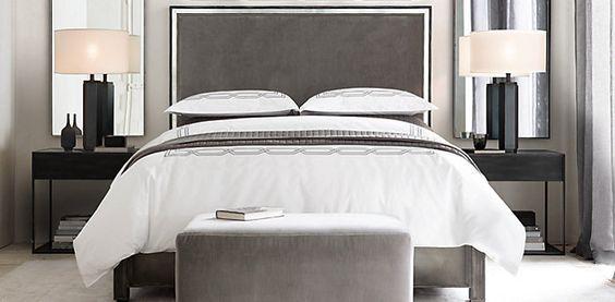 Strand Upholstered Bedroom Collection Restoration Hardware