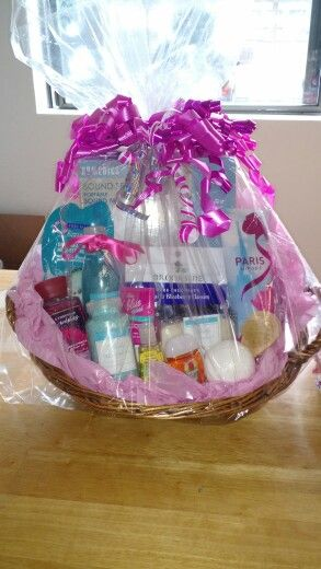 Diaper raffle prize basket baby shower