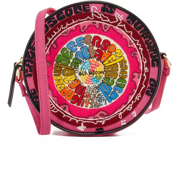Olympia Le-Tan The Kaleidoscope Messenger Bag ($1,280) ❤ liked on Polyvore featuring bags, messenger bags, colorful messenger bags, print messenger bag, zipper bag and shoulder strap bags