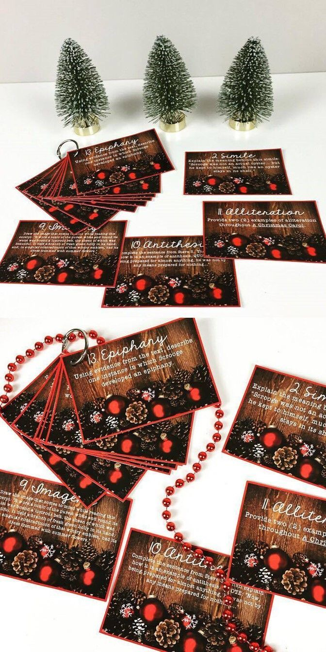 A Christmas Carol Figurative Language Task Cards | Figurative language task cards, Figurative ...