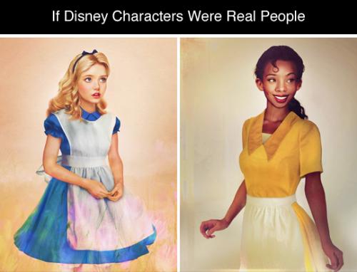 tastefullyoffensive:  If Disney Characters Were Real People byJirka Vinse Jonatan VäätäinenRelated:Disney Princesses with Realistic Hair