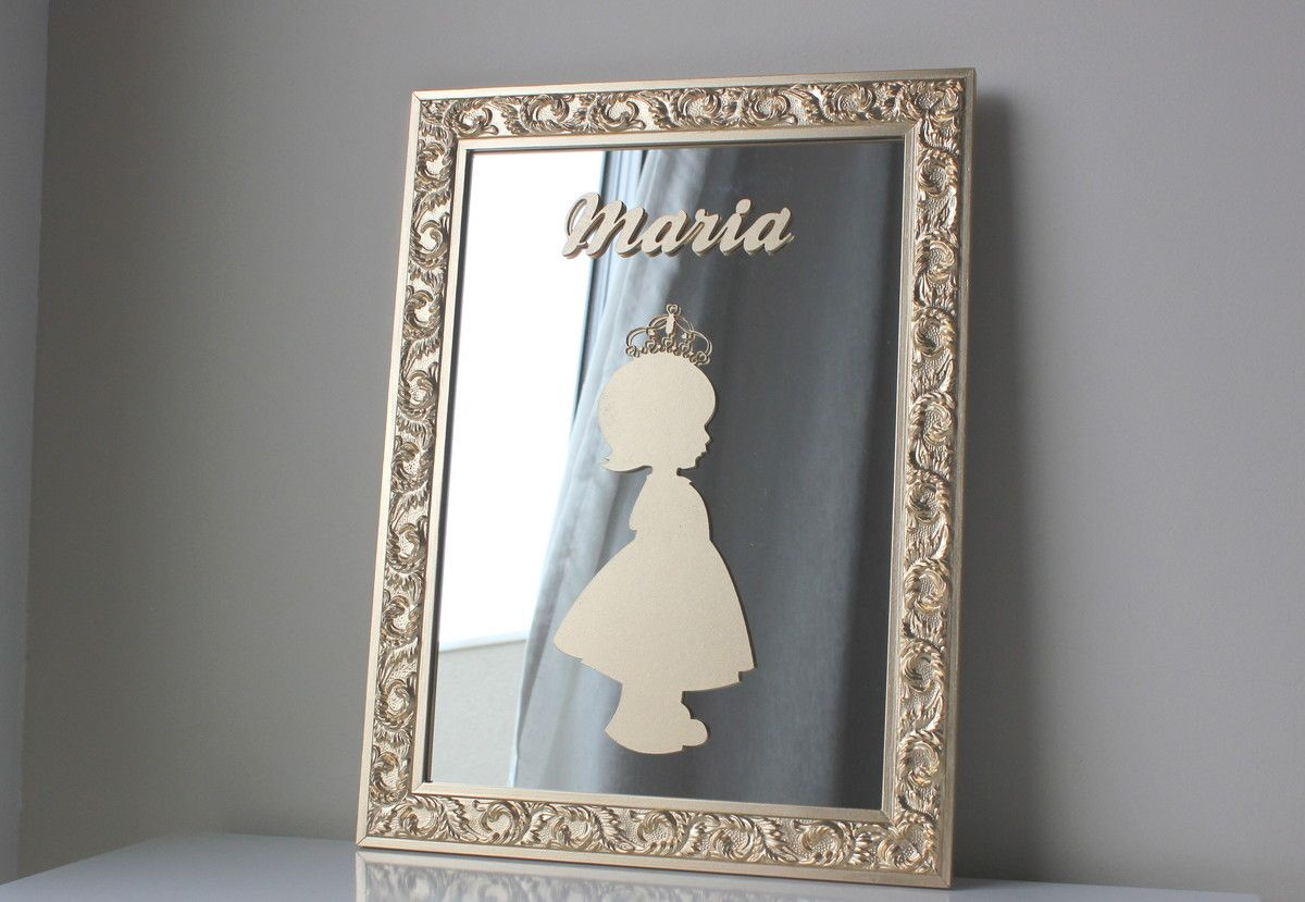 Porta de Maternidade Princesa c Espelho | Baby Design | Elo7