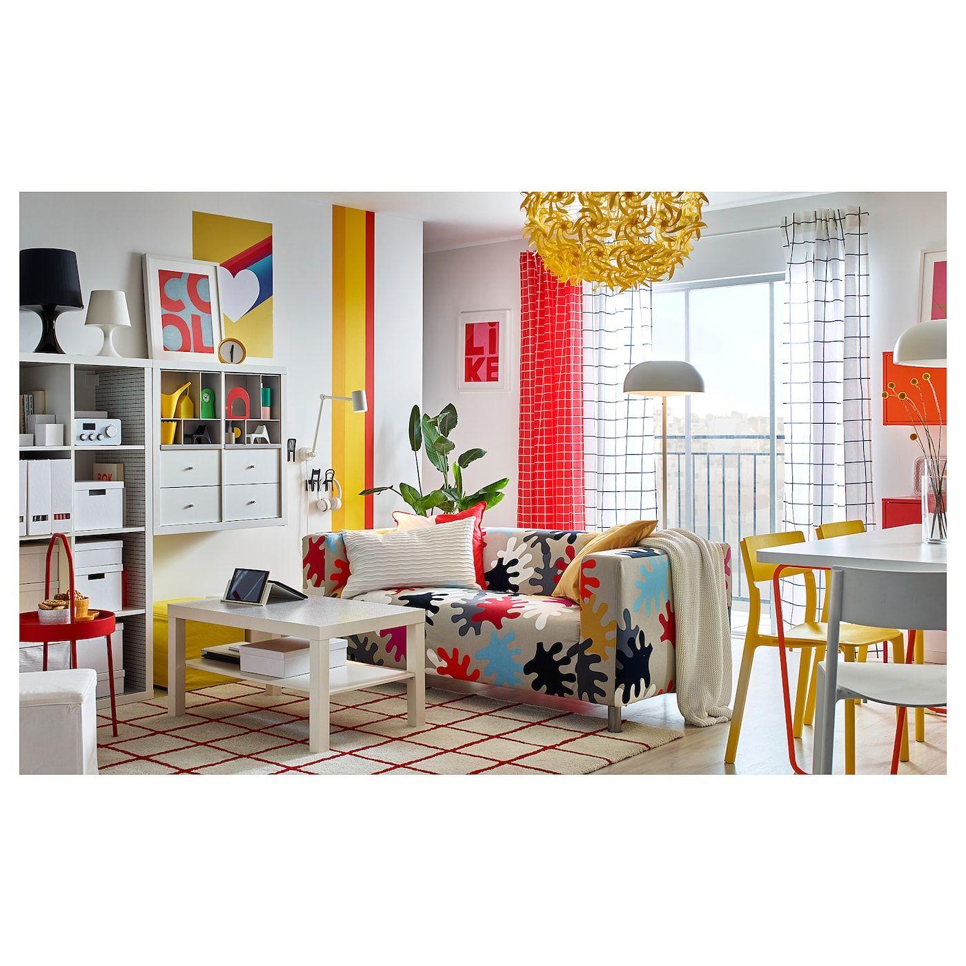 IKEA SIMESTED White, RED Rug, high pile | Living room ...