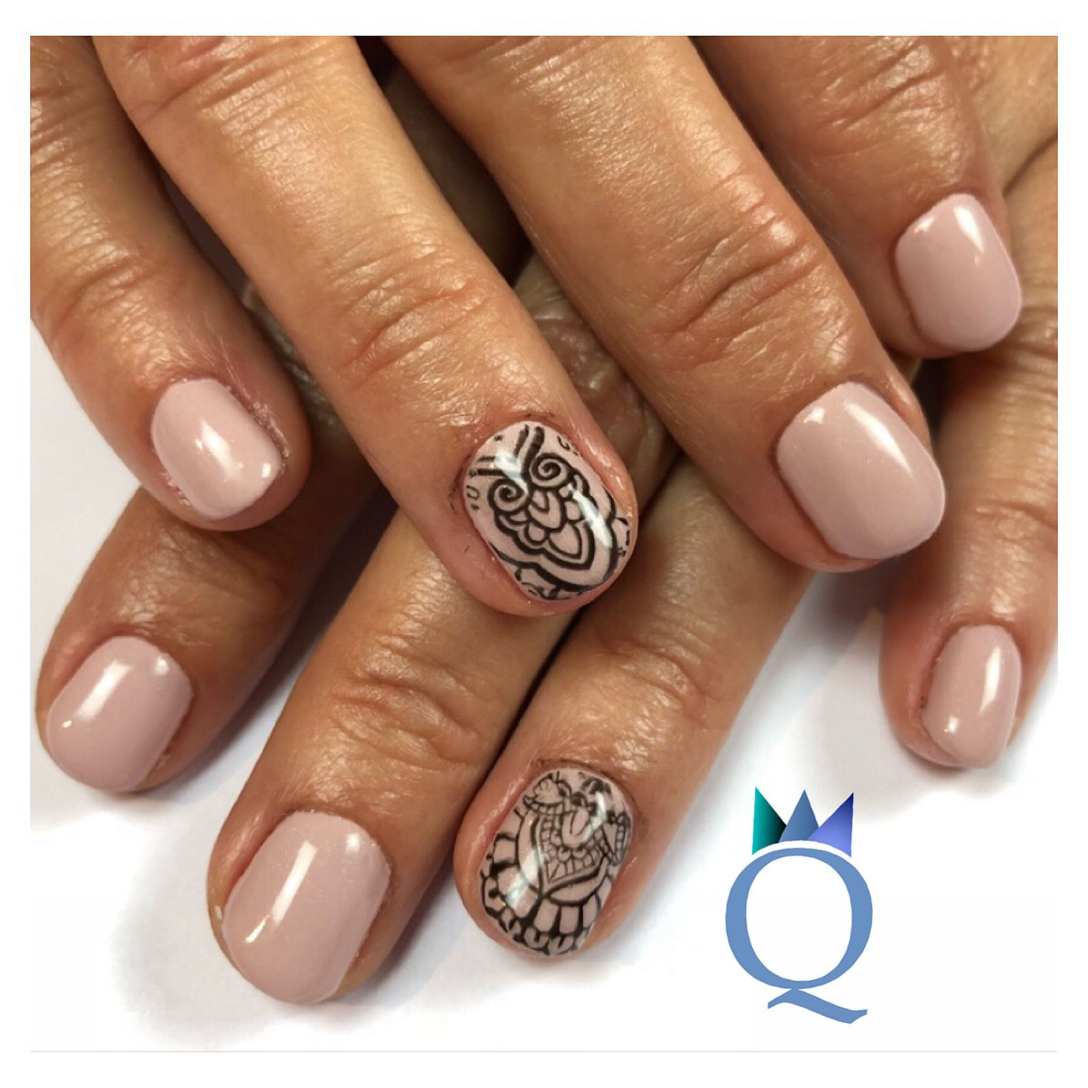 shortnails #gelnails #nails #nude #stamping #kurzenägel #gelnägel ...