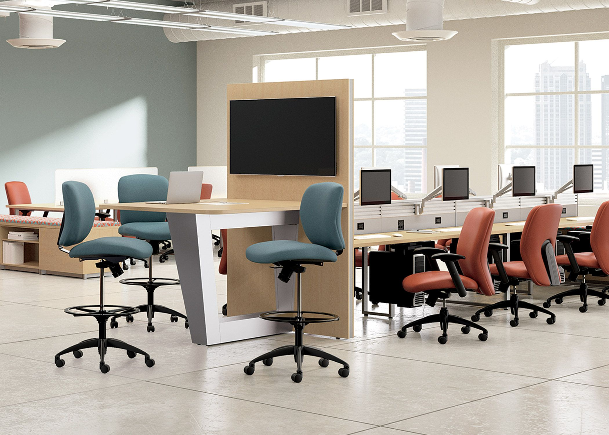 Mio Collaborative Tables National Office Furniture Open Plan