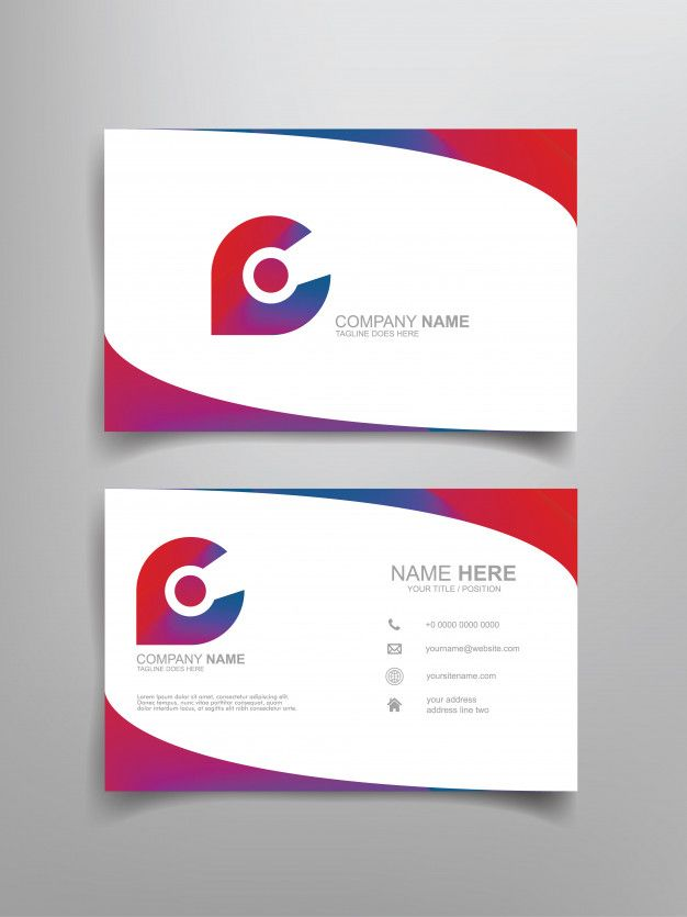 Business Card Template Design Templates Name Cards Cards