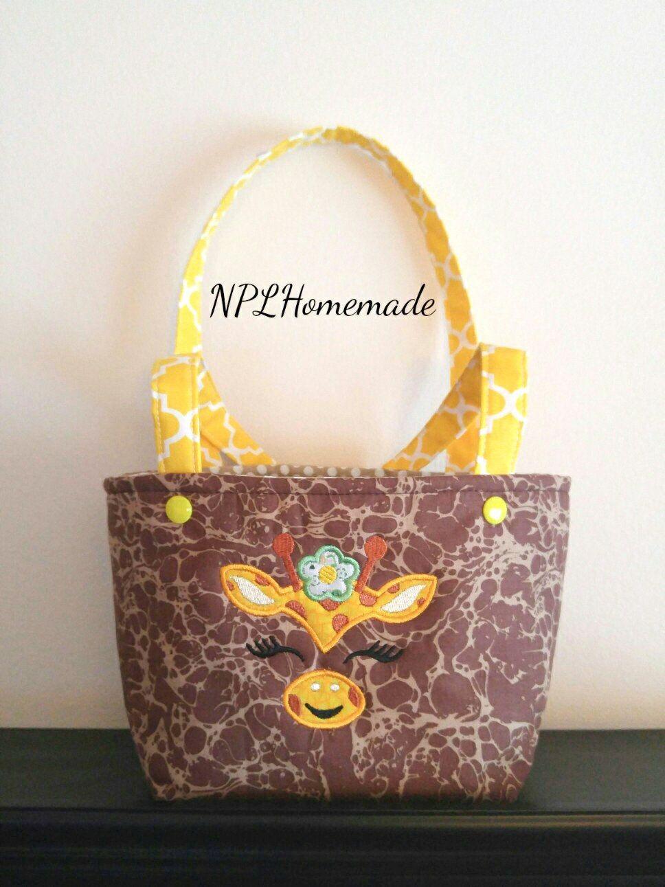 little girl toddler giraffe purse toddler tote bag christmas birthday gift - Christmas Purses Handbags