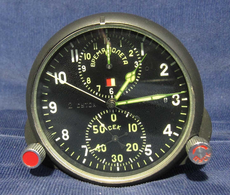 6fb4cd96839 Russian Soviet USSR Military AirForce Aircraft Cockpit Clock AChS-1 Plane