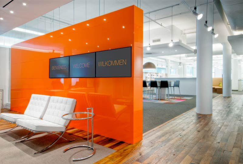 Feature Wall Oficinas Pinterest Orange Accent Walls
