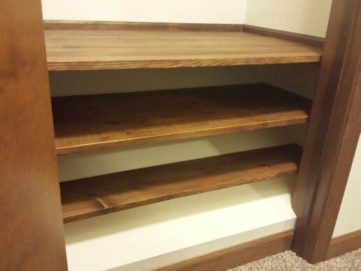 Slanted Closet Floor Due To Stairway Below Don T Waste The Space By Blocking It In Add Shelves Storag Bedroom Closet Design Small Craft Rooms Closet Bedroom
