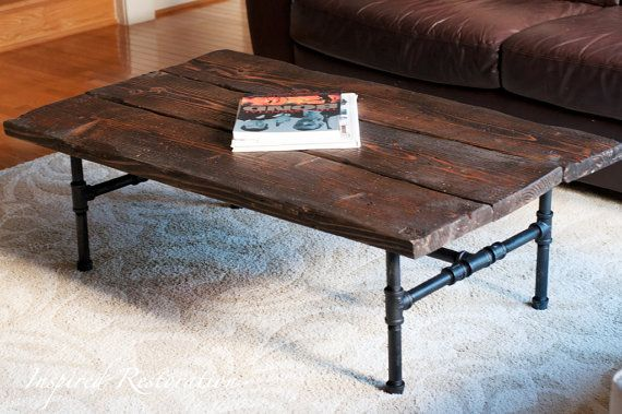 Industrial Pipe Coffee Table By InspiredRestoration On Etsy, $449.00