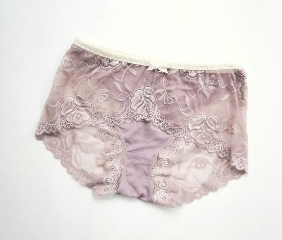 0c6d8e27eff scalloped lace knickers - full coverage hipster panties - bamboo lingerie