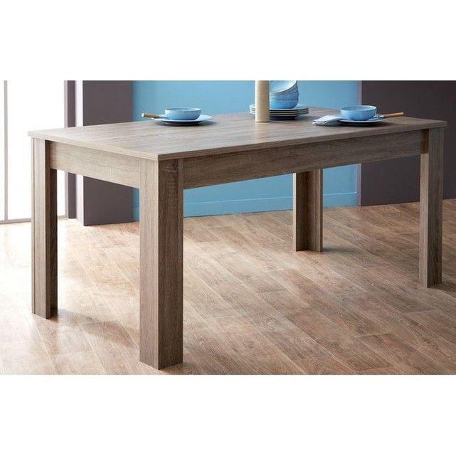 Table 170x90 Steen Couleur Chene Fonce Demeyere Moderne Meubels Woonkamer Meubels