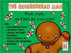 The Gingernread Man Giveaway!! Enter for your chance to win 1 of 3. The Gingerbread Man with Closes, Shared Reading, Literacy, Math and SACC  (159 pages) from KiddosConnect on TeachersNotebook.com (Ends on on 12-05-2016) Please enter our giveaway for the Gingerbread Man unit. Run, run  as fast as you can to enter! It is very good and will be snapped up soon! ( ask the fox).