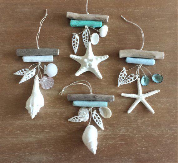 Photo of Beach ornament, beach decor, ornament, coastal ornament, beach decor, driftwood, starfish, …