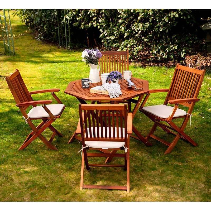 Phenomenal Wooden Outdoor Table Set Dining Garden Chairs Folding Ncnpc Chair Design For Home Ncnpcorg