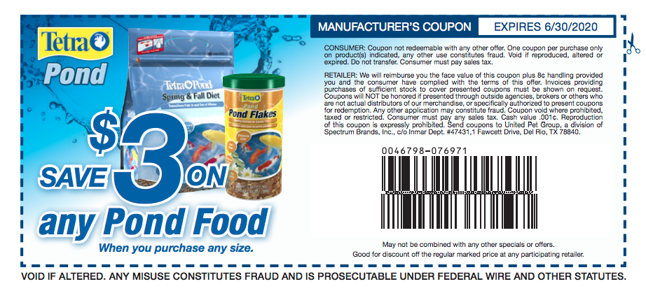 Save on Pond Fish Food | Fish recipes, Coupons, Food