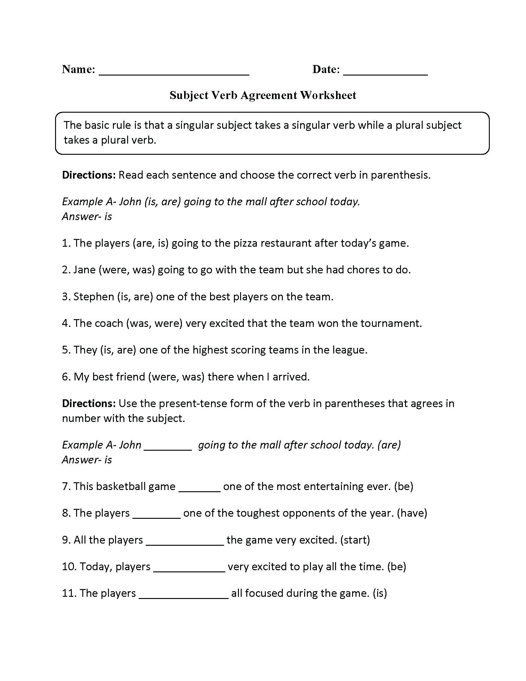 Grammar Worksheet 6th Grade   Grammar worksheets [ 2200 x 1700 Pixel ]