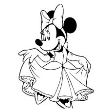 Top 25 free printable cute minnie mouse coloring pages for Minnie mouse bowtique coloring pages