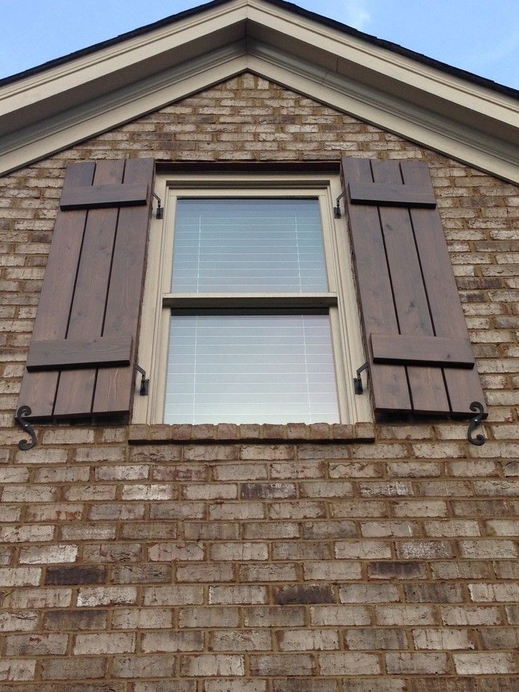 Craftsman Style Shutters Spaces Craftsman With Board And Batten