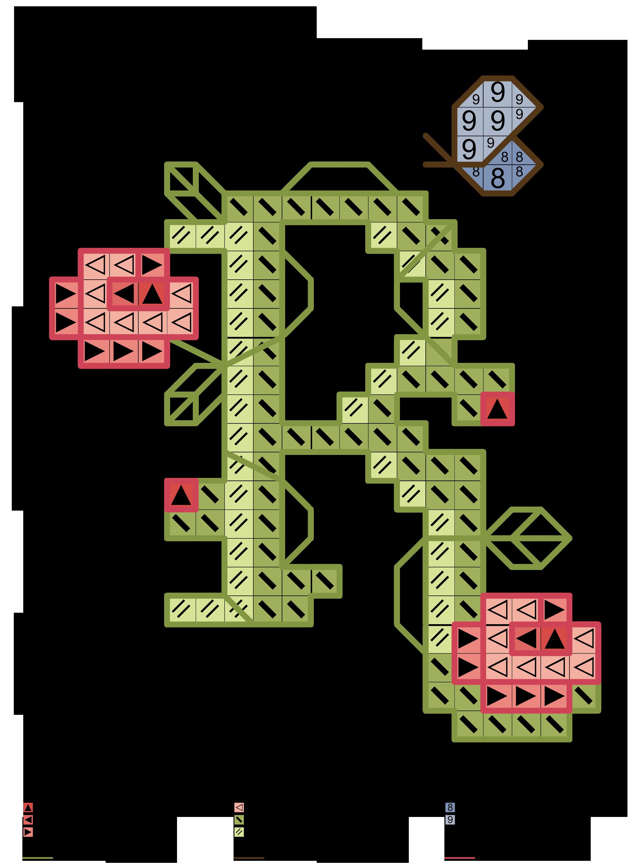 alfabeto verde con fiori e farfalla R | Alfabeti a punto croce ...