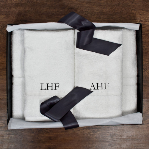 His And Hers Luxury Personalised Bath Towel Set Luxe Gift Store