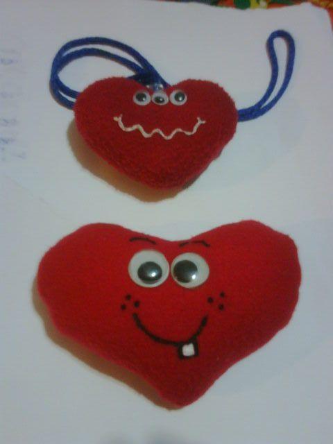 corazón de San Valentin en fieltro