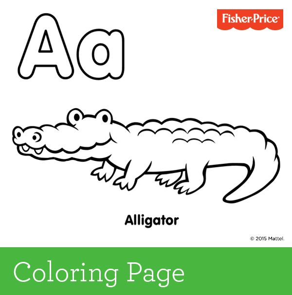 Colouring In Page Sample From Alphabetimals Picture Dictionary