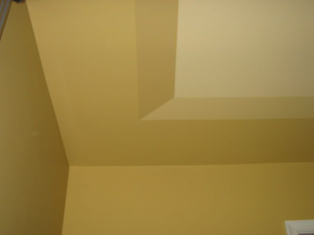 Faux tray ceiling paint Rules for painting ceilings
