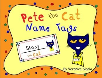 Pete The Cat Name Tags Free Printables Pete The Cat Pete The Cats Cat Names