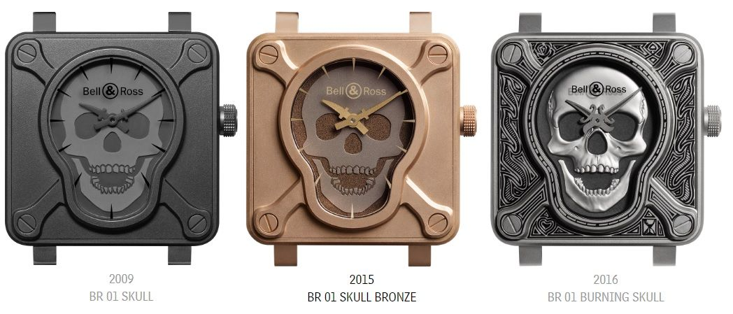 Bell and Ross Skull Series Watches - Perpetuelle