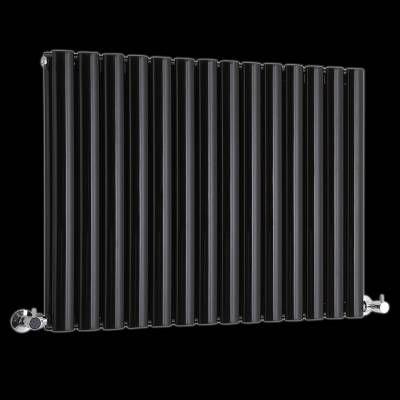 Radiateur Design Horizontal Noir Vitality 63,5cm x 83,4cm x 7,8cm - Fuite Radiateur Chauffage Maison