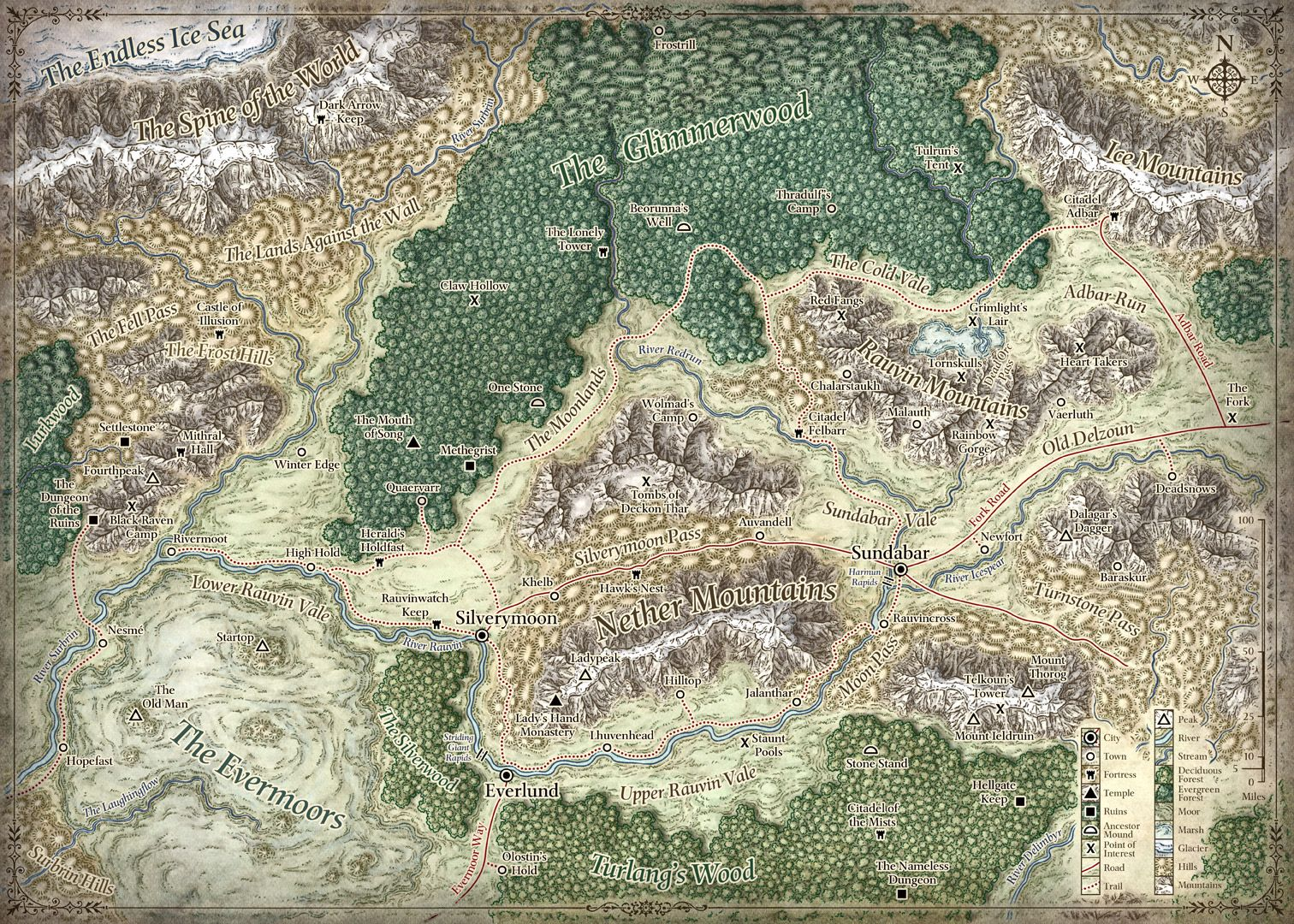 Silver marches map dd maps regions pinterest fantasy silver marches map gumiabroncs Images