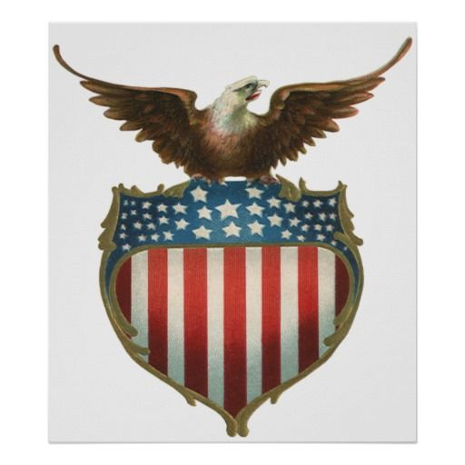 204b5f14bf88 Vintage Eagle and Flag Clip Art