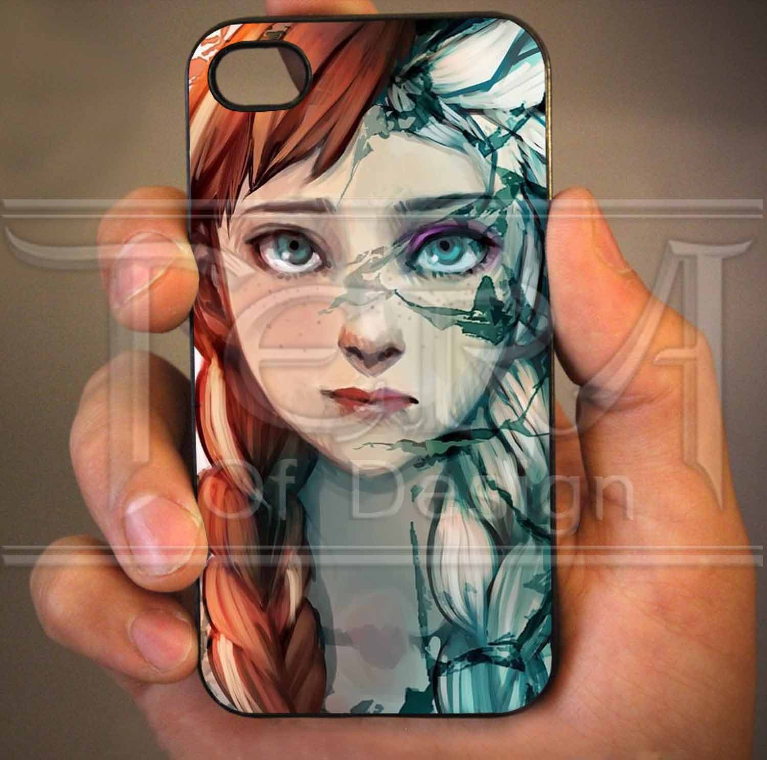 Anna and Elsa Face Disney Frozen design for iPhone by TeraOfDesign, $14.99