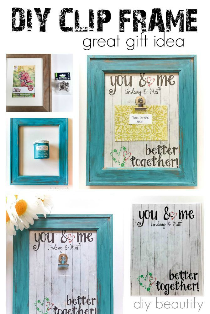 This Diy Clip Frame Makes A Fun And Colorful Gift You Can Find The Instructions At Beautify