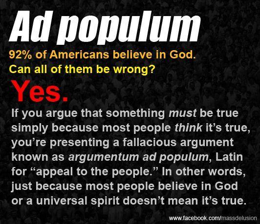 Ad populum exemple argumentum Ad Populum: