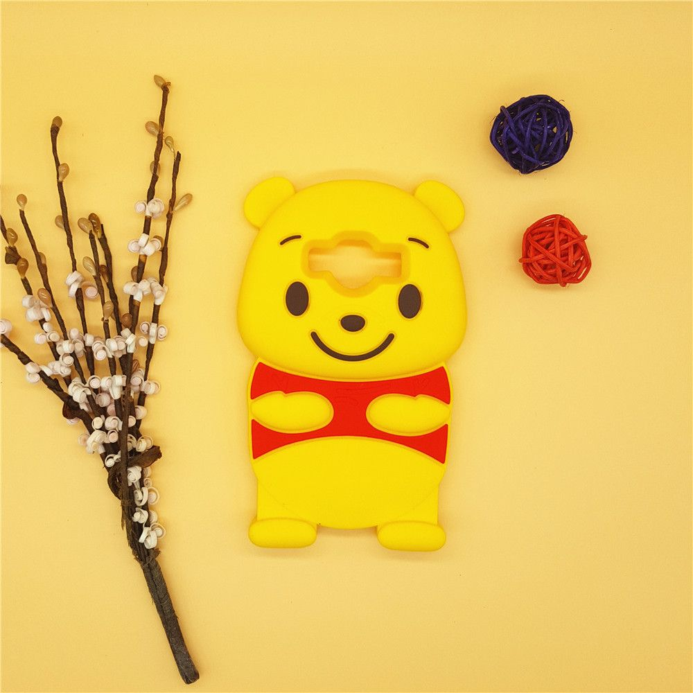 3D Cartoon Winnie Pooh Case Soft Silicone Rubber Cover For Samsung Galaxy Samsung Galaxy Core Prime G360 & J1 Ace J1ace J110