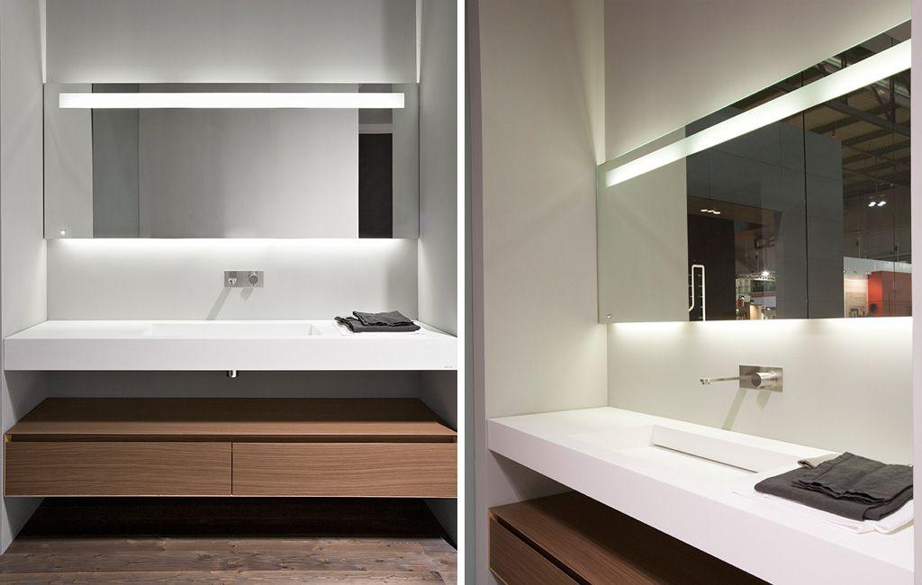 Specchio e specchiera bagno onda con faretto arbi arredobagno bagni pinterest toilet - Faretto per specchio bagno ...