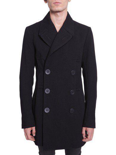 RICK OWENS Double Breasted Jacket. #rickowens #cloth #coats-jackets